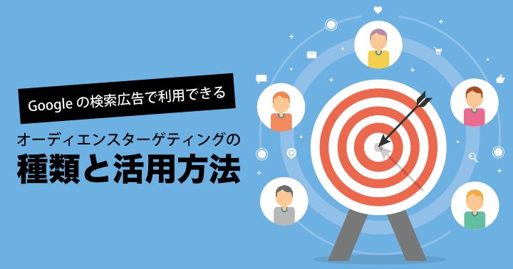 Googleの検索広告で利用できるオーディエンスターゲティングの種類と活用方法