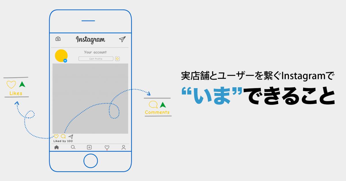 """実店舗とユーザーを繋ぐInstagramで""""いま""""できること"""